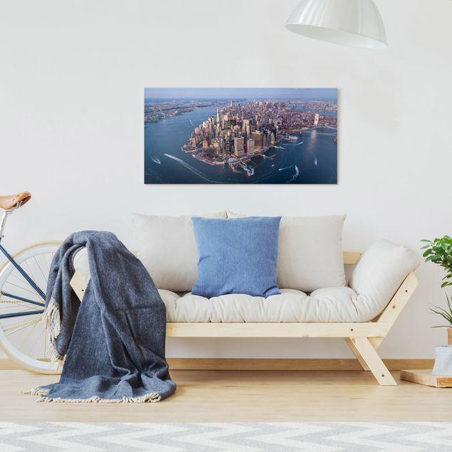 Leinwandbild - Big City Life - Querformat 2:1