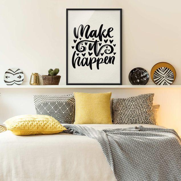 Bild mit Rahmen - Make it happen - Hochformat 3:4
