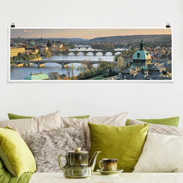 Poster - Prag - Panorama Querformat