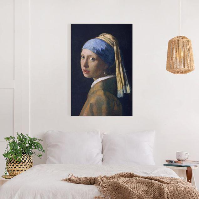 Leinwandbild - Jan Vermeer van Delft - Das Mädchen mit dem Perlenohrgehänge - Hochformat 3:2