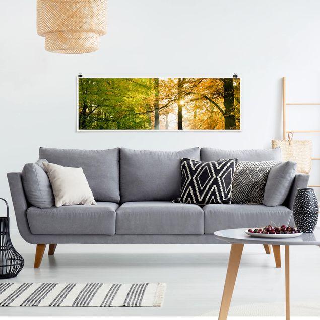 Poster - Morning Light - Panorama Querformat
