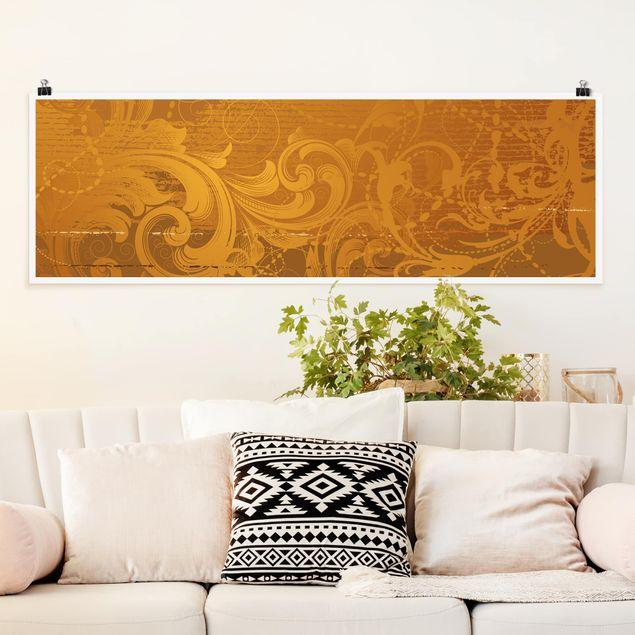 Poster - Goldener Barock - Panorama Querformat