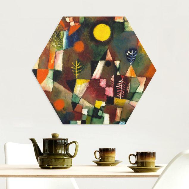 Hexagon Bild Alu-Dibond - Paul Klee - Der Vollmond