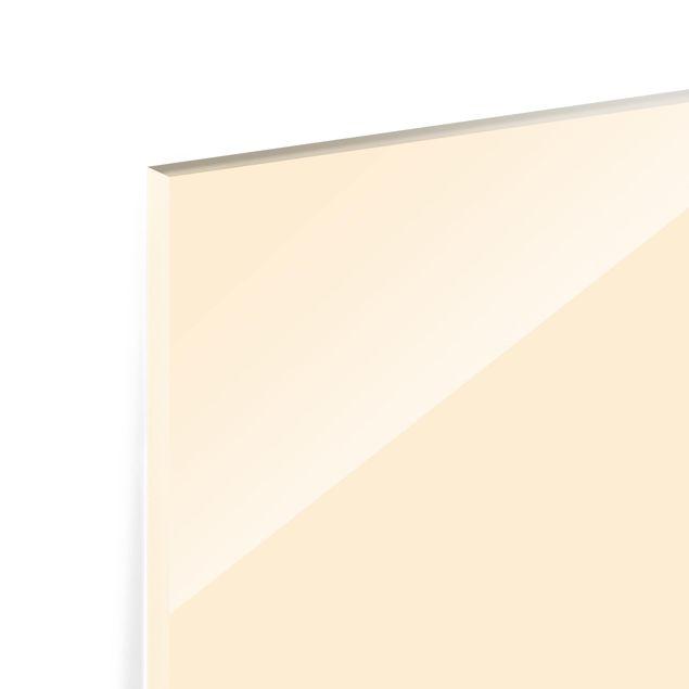 Glas Spritzschutz - Crème - Querformat - 4:3