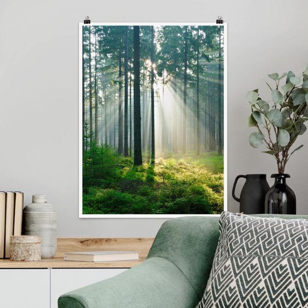 Poster - Enlightened Forest - Hochformat 3:4