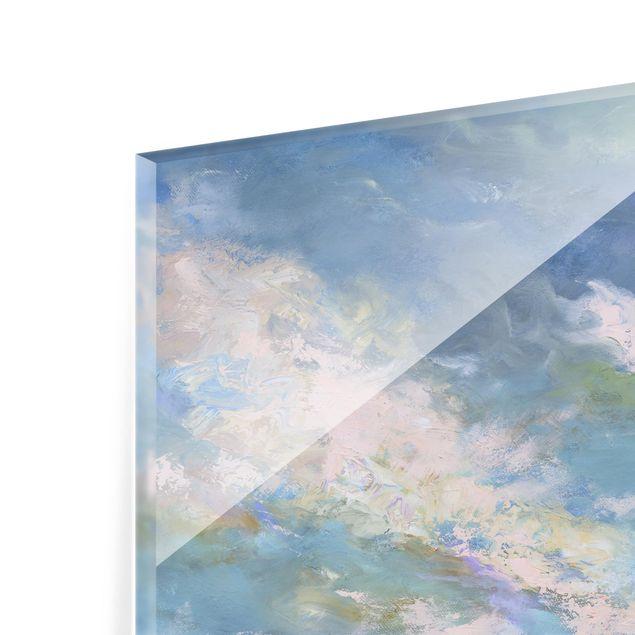 Glas Spritzschutz - Küstenhimmel - Quadrat - 1:1
