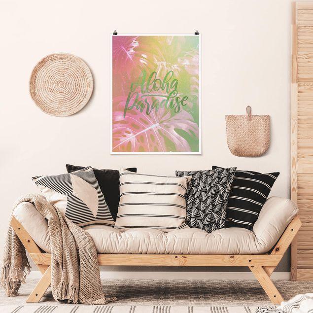Poster - Rainbow - Aloha Paradise - Hochformat 4:3