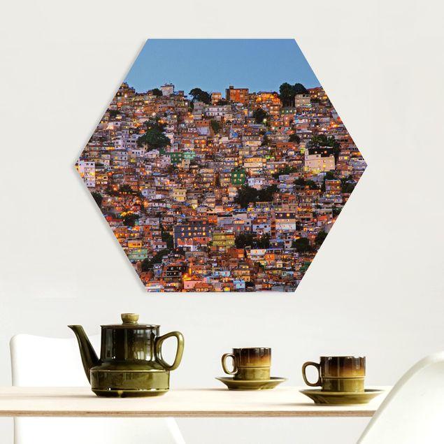 Hexagon Bild Forex - Rio de Janeiro Favela Sonnenuntergang
