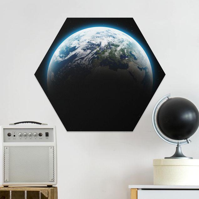 Hexagon Bild Forex - Illuminated Planet Earth