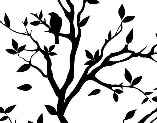 Wandtattoo Wald - Baum Haken No.YK14 Zwitschernder Baum