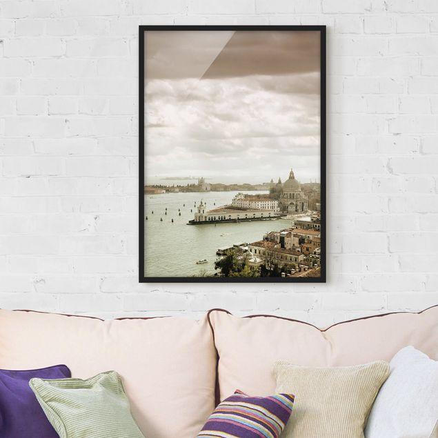 Bild mit Rahmen - Lagune von Venedig - Hochformat 3:4