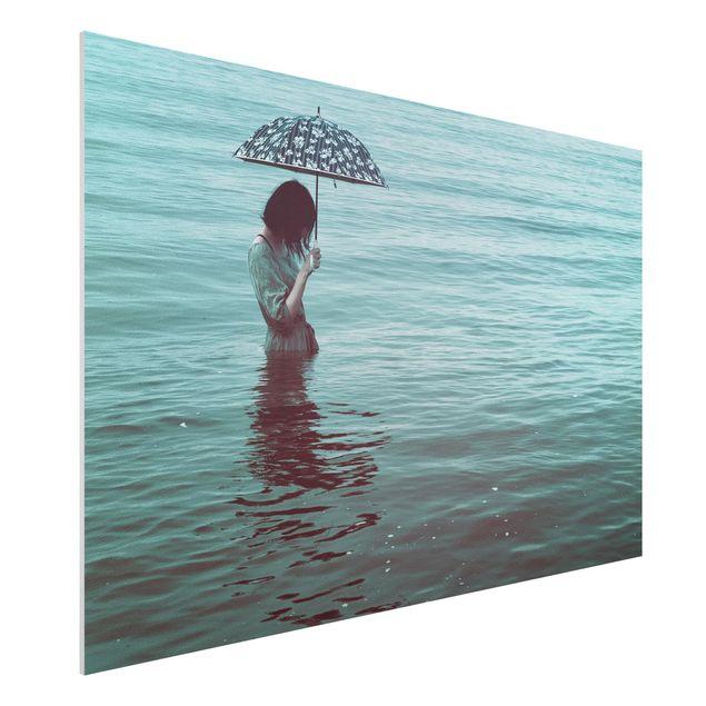 Forex Fine Art Print - Spaziergang im Wasser - Querformat 2:3