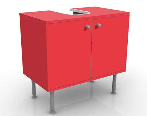 Waschbeckenunterschrank - Colour Carmin - Badschrank Rot
