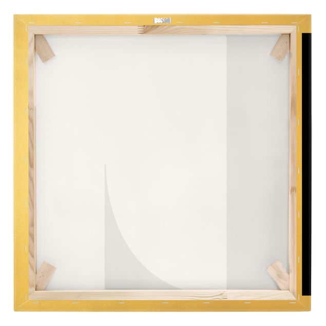 Leinwandbild Gold - Antiqua Letter L - Quadrat 1:1