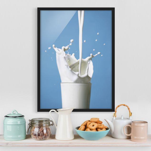 Bild mit Rahmen - Milk - Hochformat 3:4