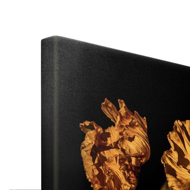 Leinwandbild Gold - Dunkler Frühling - Querformat 3:2