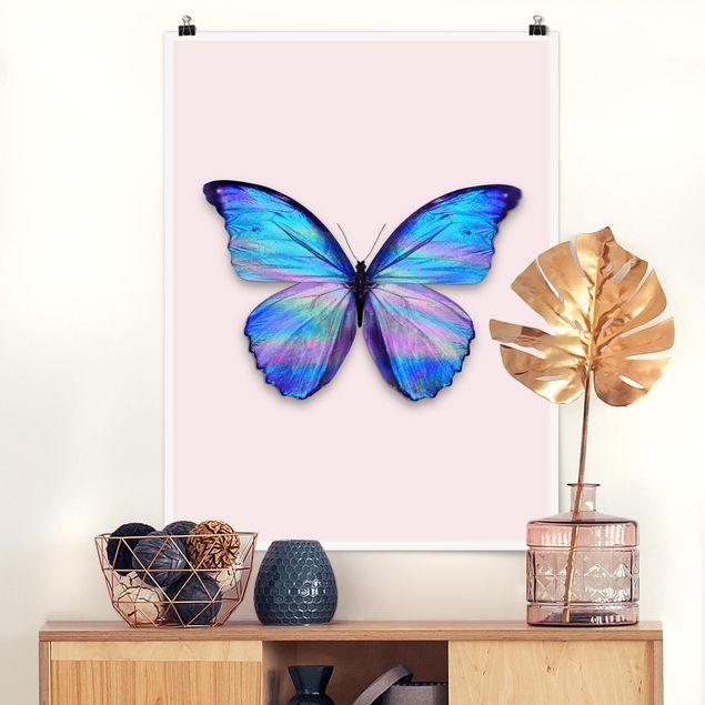 Poster - Jonas Loose - Holografischer Schmetterling - Hochformat 3:4