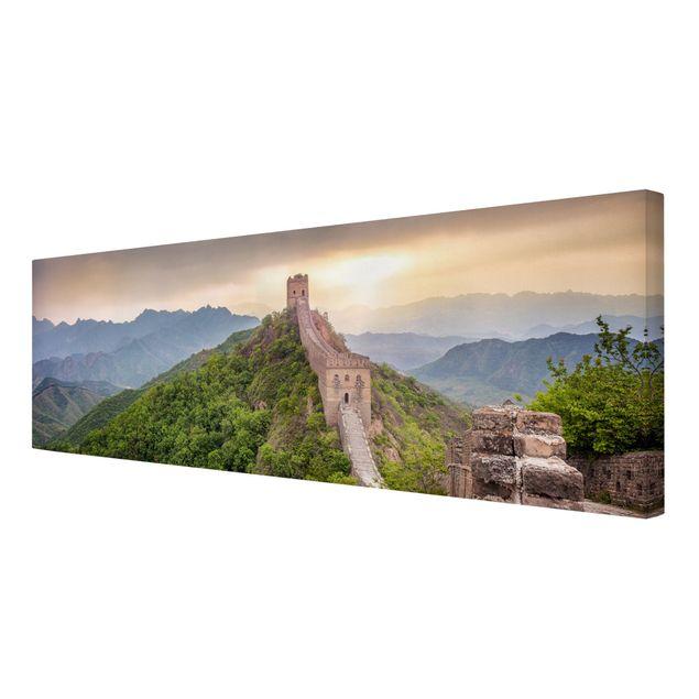 Leinwandbild - Die unendliche Mauer von China - Panorama 3:1