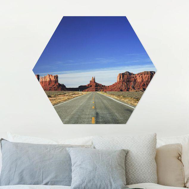 Hexagon Bild Alu-Dibond - Colorado-Plateau