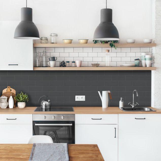 Küchenrückwand - Keramikfliesen Anthrazit