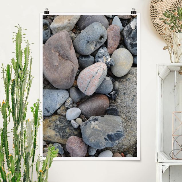 Poster - Beach Pebbles - Hochformat 3:2