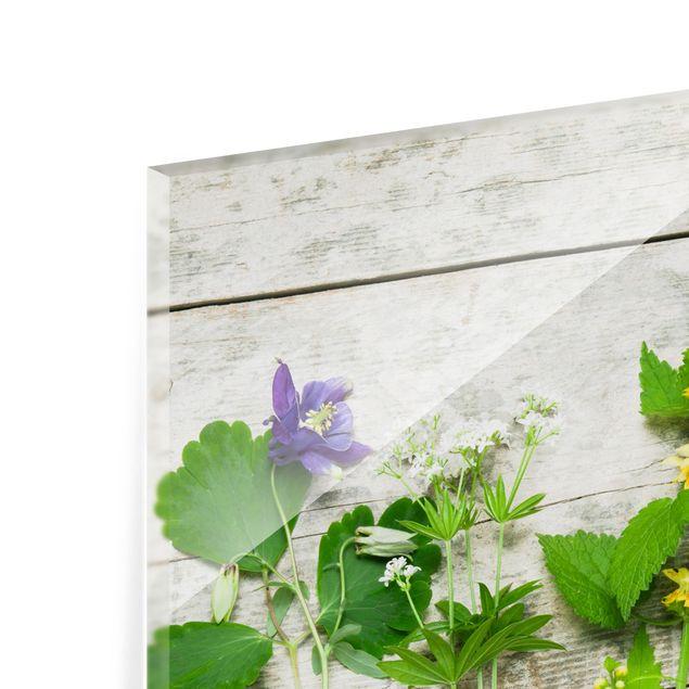 Glas Spritzschutz - Heil und Wiesenkräuter - Quadrat - 1:1