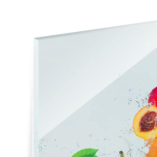 Glas Spritzschutz - Fruchtsalat - Quadrat - 1:1