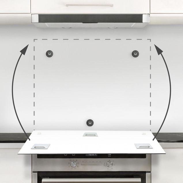 Glas Spritzschutz - Farn mit Leinenstruktur IV - Quadrat - 1:1