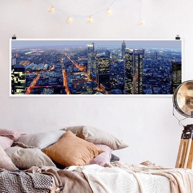 Poster - Frankfurt - Panorama Querformat