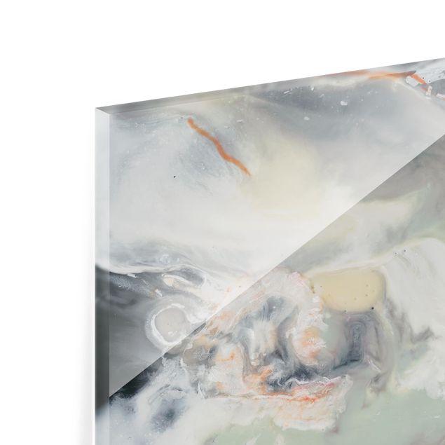 Glas Spritzschutz - Gezeiten mit Strandgut IV - Quadrat - 1:1
