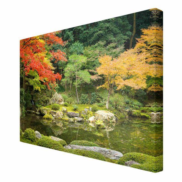 Leinwandbild - Japanischer Stadtpark - Querformat 3:2