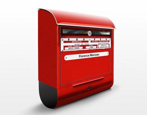 Briefkasten mit Wunschtext - Briefkasten in Frankreich - mit Zeitungsfach