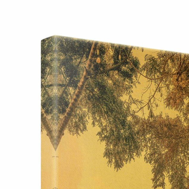 Leinwandbild Gold - Garten auf Madeira - Hochformat 1:2