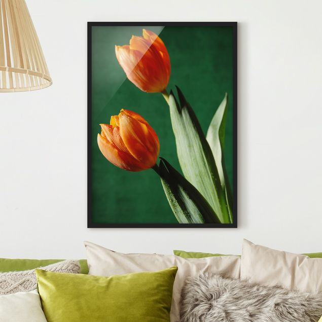 Bild mit Rahmen - Tulips in Style - Hochformat 3:4