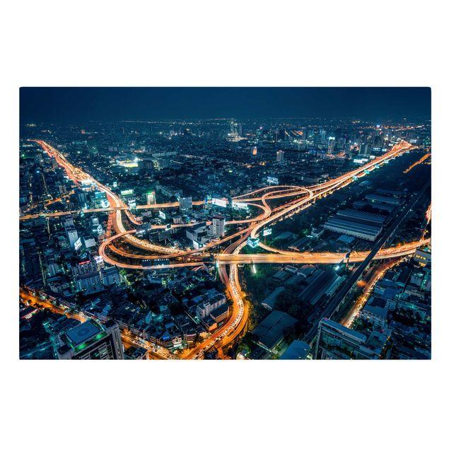 Leinwandbild - Eine Nacht in Bangkok - Querformat 3:2