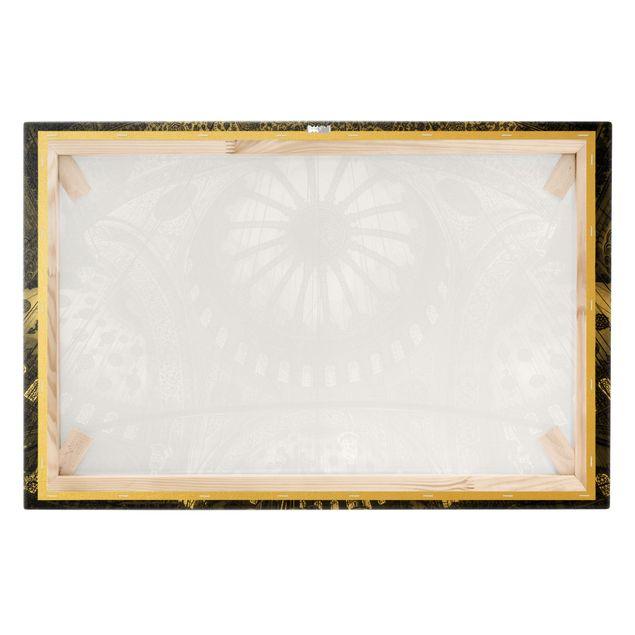 Leinwandbild Gold - Die Kuppeln der blauen Moschee - Querformat 3:2