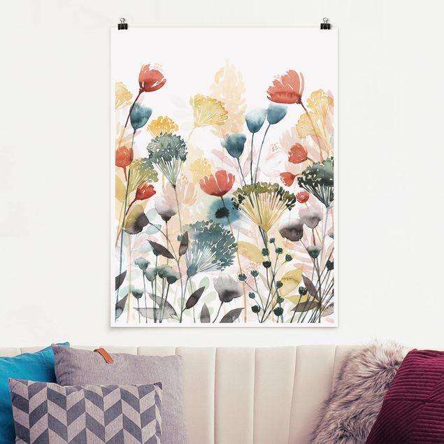 Poster - Wildblumen im Sommer II - Hochformat 3:4
