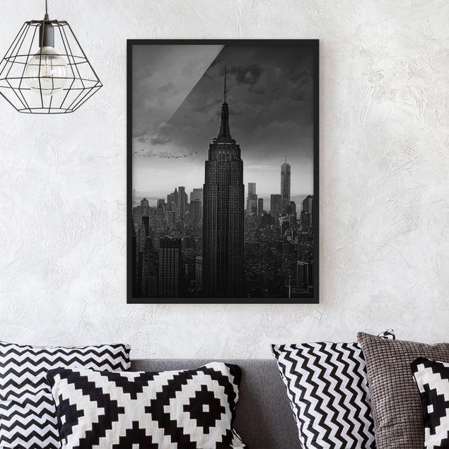 Bild mit Rahmen - New York Rockefeller View - Hochformat 3:4