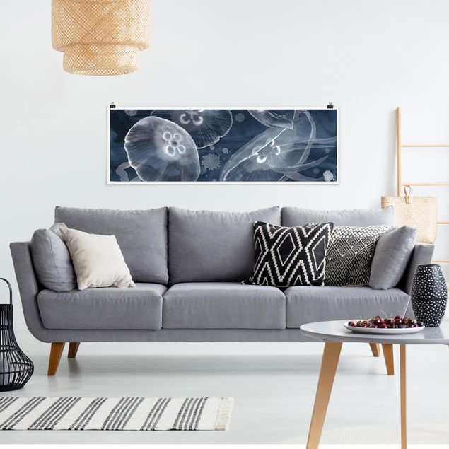 Poster - Mondmedusen II - Panorama Querformat