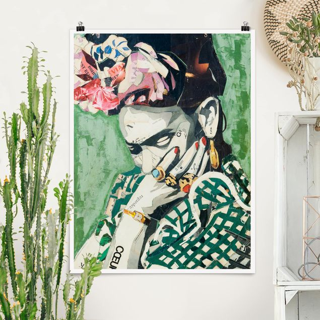 Poster - Frida Kahlo - Collage No.3 - Hochformat 3:4