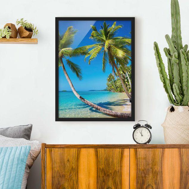Bild mit Rahmen - Beach of Thailand - Hochformat 3:4