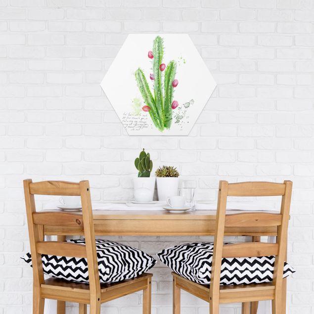 Hexagon Bild Forex - Kaktus mit Bibellvers II
