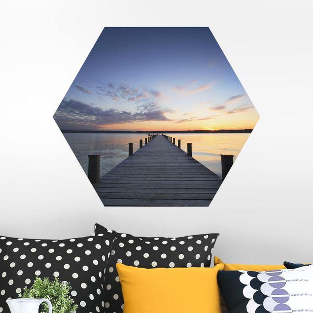 Hexagon Bild Alu-Dibond - Ort der Ruhe