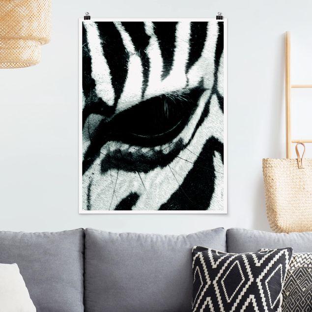 Poster - Zebra Crossing No.4 - Hochformat 3:4