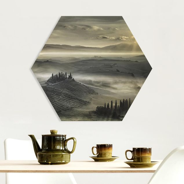 Hexagon Bild Forex - Toskana-Morgen