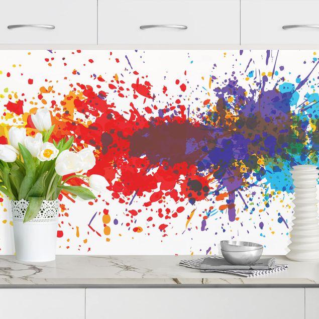 Küchenrückwand - Rainbow Splatter