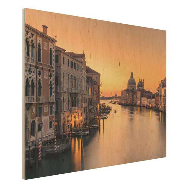 Holzbild - Goldenes Venedig - Querformat 3:4