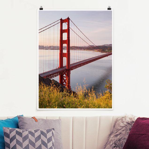 Poster - Golden Gate Bridge in San Francisco - Hochformat 3:4