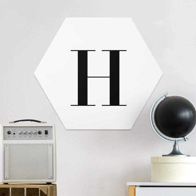 Hexagon Bild Forex - Buchstabe Serif Weiß H