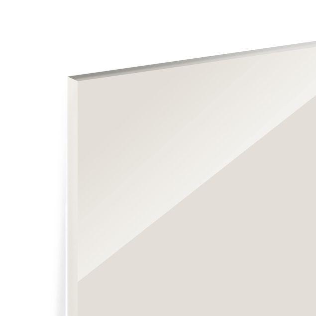 Glas Spritzschutz - Meersand - Querformat - 4:3